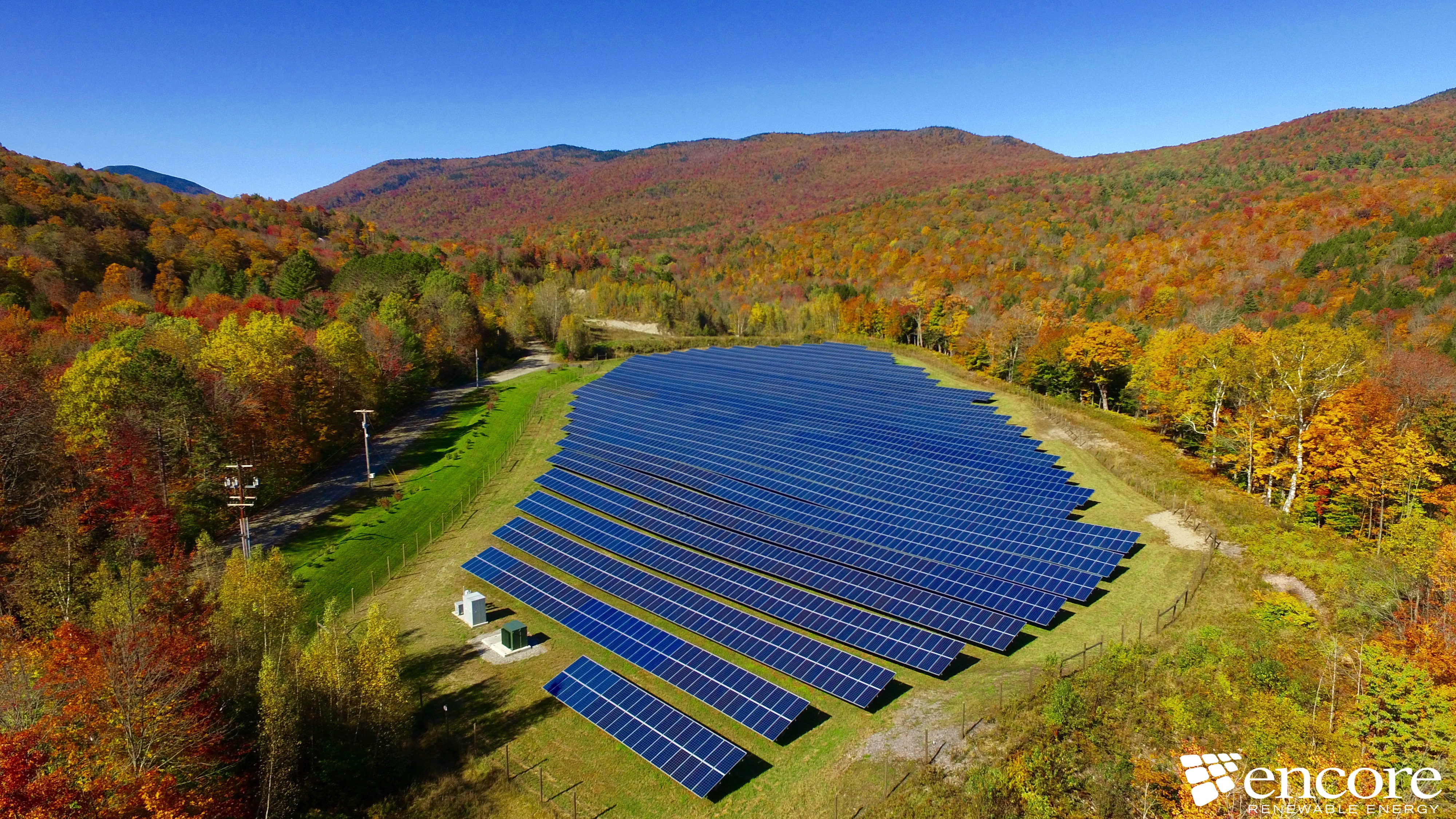 Nebraska Valley Solar Farm in Fall